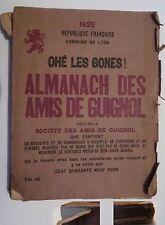 LIVRE ANCIEN- ALMANACH DES AMIS DE GUIGNOL - 1929 -OHE LES GONES