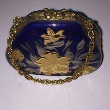 Peint Main - Limoges France - Blue Purse - limited Edition 520/1000