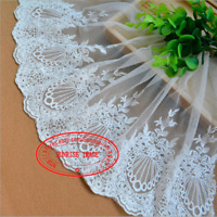 Floral Tulle Cotton Lace Trim Ribbon Flower Embroidery Wedding Trim Sewing FL282
