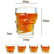 Skull Shot Bicchieri in vetro a forma di Teschio per cocktail shottini - 4 pezzi