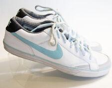 Nike Capri II Womens Size 10.5 Tennis Shoes Sneakers White w/ Light Blue Leather