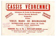 Buvard publicitaire cassis Védrenne mars de bourgogne Nuits Saint Georges