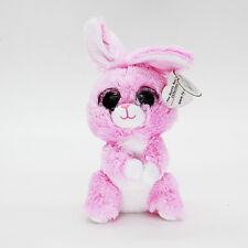 "6"" Ty Beanie Boos Pink Rabbit Baby Plush Stuffed Animals Soft Kids Toys CS"