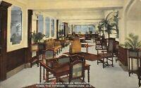 Brimingham Alabama~Tutwiler Hotel Mezzanine Floor~Gentleman's Parlor~1915 PC
