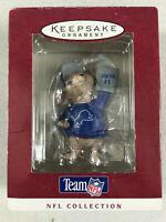 1996 Hallmark NFL Detroit Lions Mouse Fan Keepsake Christmas Tree Ornament NOS