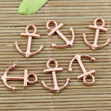 32pcs Rose-gold tone 18x15mm anchor charms EF2431