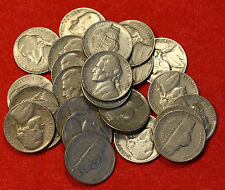 1940-P JEFFERSON NICKEL ROLL (40 COINS) CIRCULATED NICE COINS CHECK OUT STORE J5