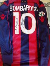 Maglia Macron Bologna Calcio Bombardini Serie A Indossata Match Worn Autografata