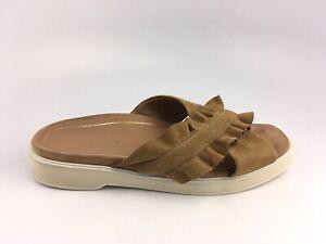 Vionic Womens Leila Azalea Tan Suede Sandals Slide Criss Cross Size 7 US