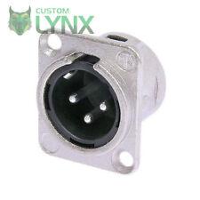 10 (TEN) x Neutrik NC3MD-L-1 Male XLR Chassis Connector - 3 PIN Socket NC3MDL1