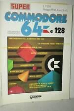 RIVISTA SUPER COMMODORE 64 E 128 ANNO 3 NUMERO 5 MAGGIO 1986 USATA FR1 54762