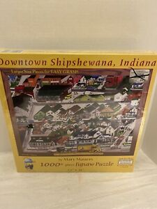 Sunsout Downtown Shipshewana, Indiana By Mary   Masters. Jigsaw Puzzle 1000 +
