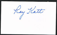 Ray Katt (d. 1999) signed autograph auto 3x5 index card Baseball Player H3894