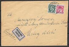 Czechoslovakia covers 1910 Rohrpost cover LABEL POSTRUBNI POSTOU