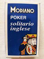 CARTE DA GIOCO SIGILLATE MODIANO POKER SOLITARIO INGLESE PLAYING CARDS SEALED