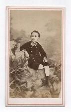 PHOTO CDV Carte de visite Enfant Garçon A. de Pérol Vincennes Vers 1870 Bottines