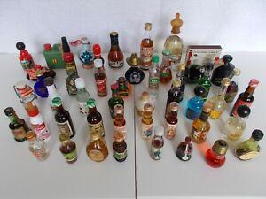 48 Miniaturen Schnaps Flaschen Minifläschchen SEHR ALTE SAMMLUNG - KELLERFUND