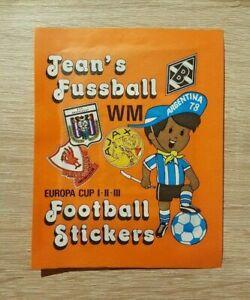Panini 1 Tüte Jean´s Football Sticker Bustina Pochette Pack Pochette WM 1978