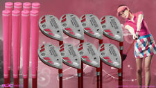 "Women's iDrive Golf Clubs All Ladies Pink Hybrid (4-SW) Set Lady ""L"" Flex Clubs"