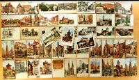 52 Antique Postcards All NURNBERG NUREMBERG 1900-1910 Germany 13 Charles Flowers
