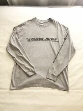 Vintage Guess Jeans Long Sleeve T Shirt Size XXL Grey Spell Out EUC