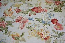 Brocade Fabric EMMA SPRING Off White Ground Floral Pattern Sold by yard