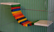 "8x6"" Pine Shelves & log bridge Rat Degus Chinchilla Guinea Pig cage Furniture"