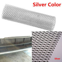 Universal Silver Grille Protection Aluminum Mesh Hexagonal Style 100cm x 33cm