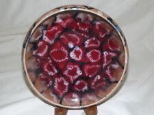 Vintage Signed Czechoslovakia Coronet Pottery Bowl Blended Glaze