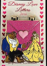 Disney Pin Love Letters Beauty & The Beast Princess Belle Le Pin Of The Month