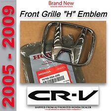 Genuine OEM Honda CR-V Front Grille H Emblem 2005-2009  75700-S9A-G00
