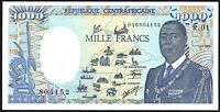 1985 Central African Republic 1000 Francs Banknote * 016804185 * UNC * P-15 *