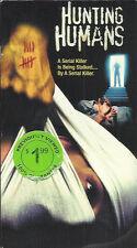 Hunting Humans (VHS) Rare Serial Killer Horror OOP HTF Rick Ganz Bubby Lewis