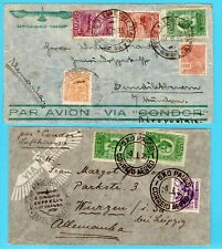 BRAZIL 2 airmail covers 1933 R.do Sul, 1935 SP to Germany