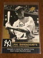 2009 Upper Deck SPx Baseball Career Highlights #99 - Joe DiMaggio - Yankees