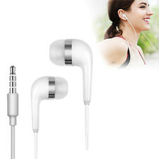 White 3.5MM For Samsung handsfree Wired Headphones Earphones Earbud with Mic