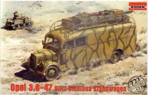 Roden 723 - Opel 3.6 - 47 Blitz Omnibus  - 1/72 scale model airplane kit 116 mm