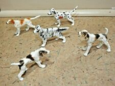Lot of Five Vintage 1960's Japan, Bone China Dog Figurines, Very Nice Detail!