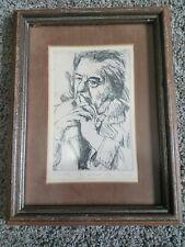 Golda Meir by Itamar Siani Signed Print Limited Edition 127/195 London 1971