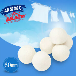 6Pcs Reusable Softener Natural Sheep Organic Fabric Wool Dryer Balls Laundry