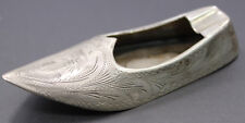 Vintage .800 Silver Shoe Shaped Ashtray