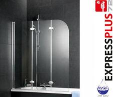 SCHULTE Badewannenaufsatz Badewannenfaltwand 3 teilig EP3354 Echtglas