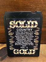 Solid Gold Country Vol 5 Various Artists 8 Track Cartridge Tape 1980 VGC