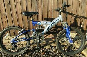 Rhino Dual Full Suspension Mountain Bike Front Disc Brake Brand New Tyres Boys