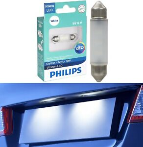 Philips Ultinon LED Light DE3423 White 6000K One Bulb License Plate Tag Replace