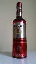 Boite étui métal Whisky Paddy + Bouteille vide