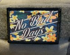No Bad Days Morale Patch Funny Tactical Military Army USA Flag Badge Hook Funny