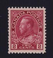 Canada Sc #106c (1914) 2c rose carmine Admiral Mint VF NH
