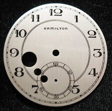 Rare NOS Dial with Jewel Cut-Outs for Hamilton 10 Size 917 921 945 Pocket Watch