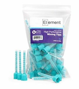 48 HP White Mixing Tips 6.5 mm SAME AS TEAL Dental Impression VPS Heavy PVS